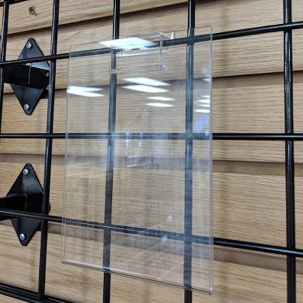 "Acrylic Slatwall / Gridwall Sign Holder 5.5"" x 7"" 2"