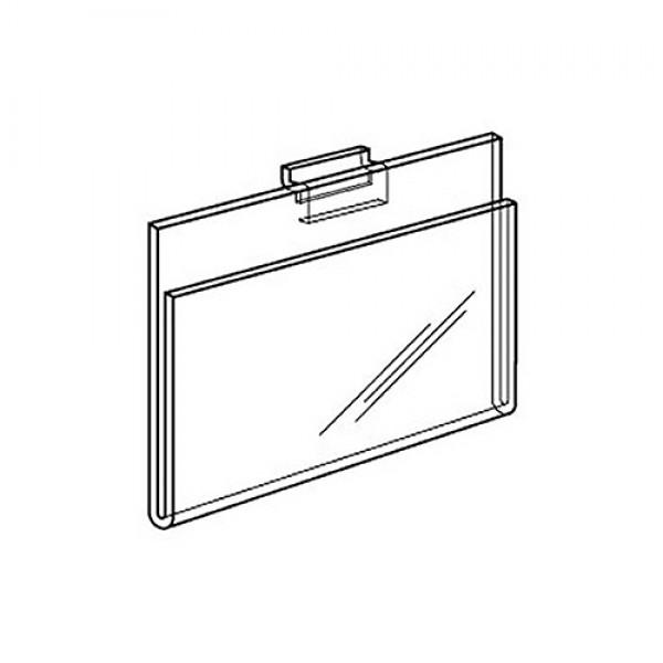"7"" x 5.5"" Clear Acrylic Slatwall Gridwall Sign H 4"