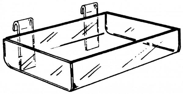 "Acrylic Gridwall Tray 12"" 3"