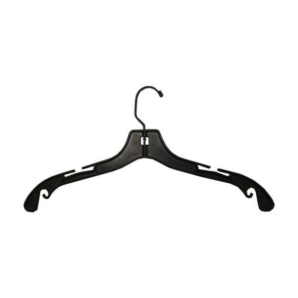 """17"""" Black Plastic Top Hangers"""
