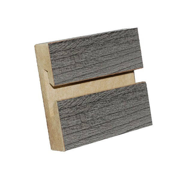 MDF Textured Slatwall Panel 4' x 8' Pewter Pine Finish With TFL 2