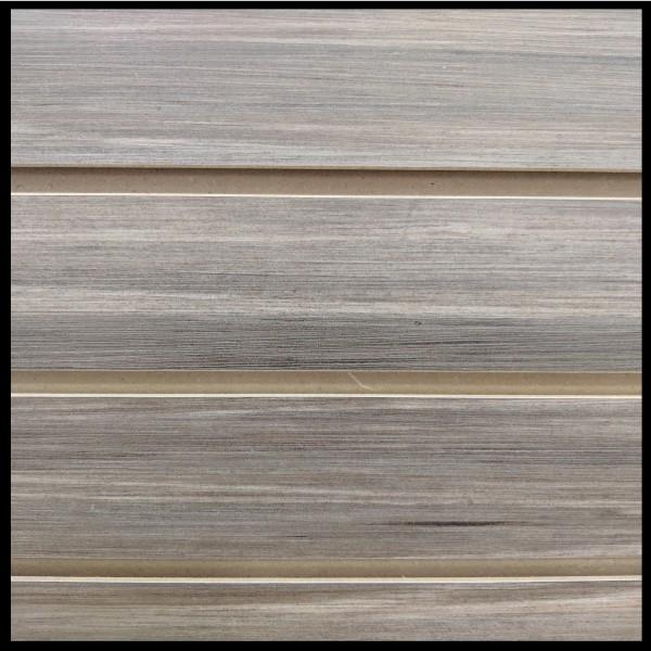 MDF Textured Slatwall Panel 4' x 8' Stromboli Finish With TFL 2