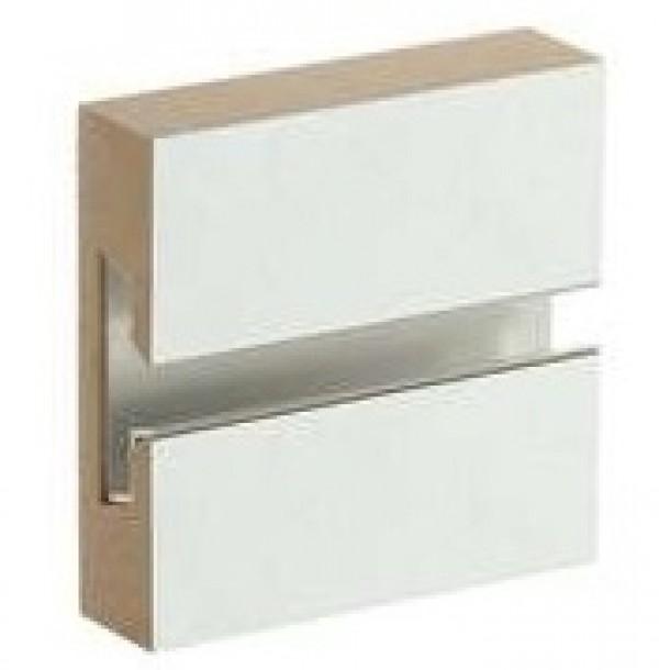 MDF Slatwall Panel 4' x 8' White Finish With Alumi