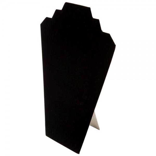 """Black Velvet Necklace Easel Display 12"""""""