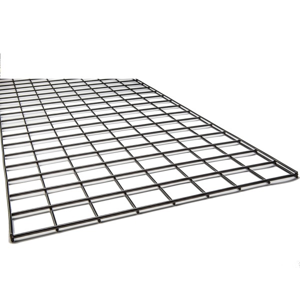 Gridwall Complete Free-Standing Triangle Floor Fixture with Casters. Black 2' x 6 ' 3