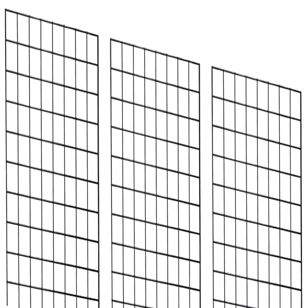 Grid 2' x 6' Black x 3