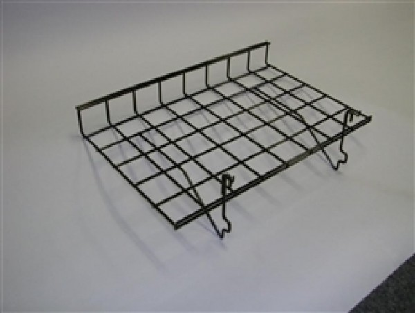 "Grid Shelf 15"" x 24"" Black: BLKS-93 2"