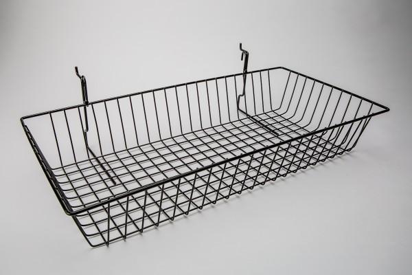 Assorted Gridwall, Slatwall, Pegboard Baskets Black 6