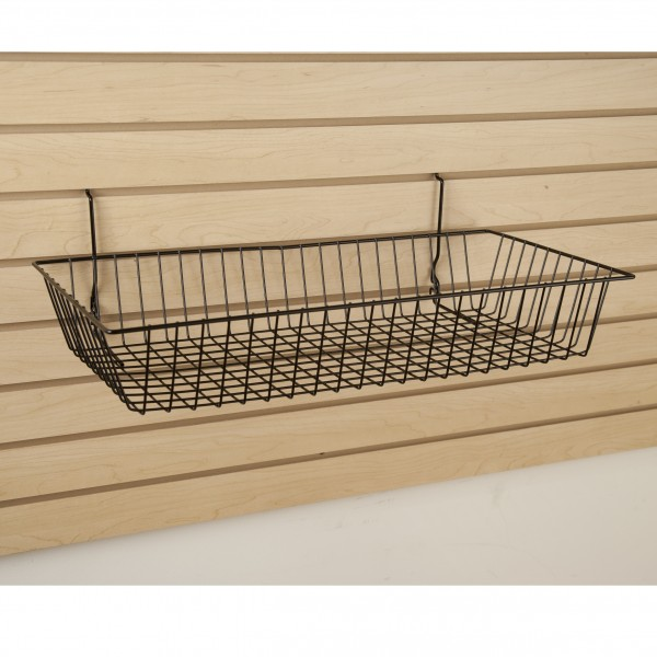 Assorted Gridwall, Slatwall, Pegboard Baskets Black 5