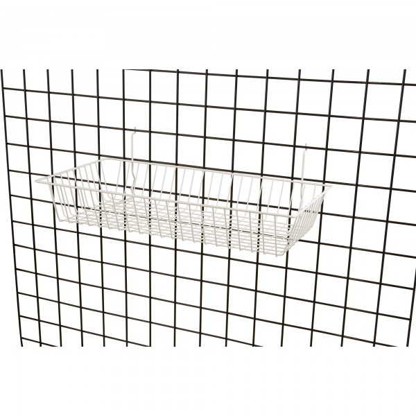 Assorted Gridwall, Slatwall, Pegboard Baskets White 7