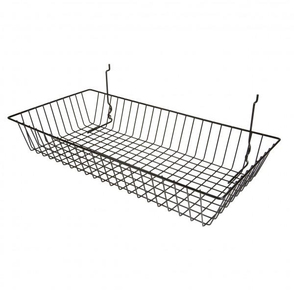 Assorted Gridwall, Slatwall, Pegboard Baskets Black 4