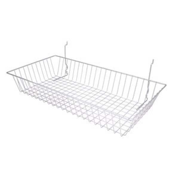 Assorted Grid/Slatwall Basket Chrome