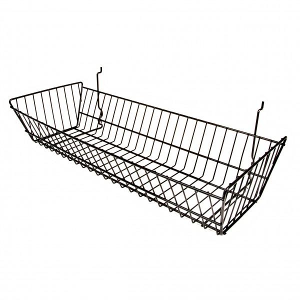 Assorted Gridwall, Slatwall, Pegboard Baskets Black 1