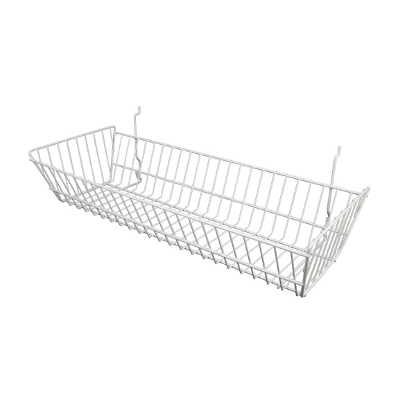 Assorted Gridwall, Slatwall, Pegboard Baskets White 4