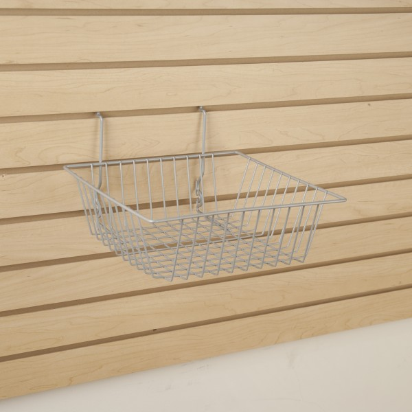 Assorted Grid/Slatwall Basket Chrome 3