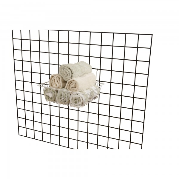 Assorted Gridwall, Slatwall, Pegboard Baskets White  2