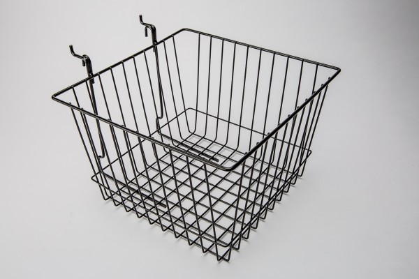 Assorted Gridwall, Slatwall, Pegboard Baskets Black  8