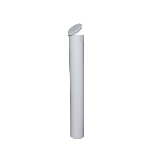 109mm Child Resistant Pop Top Pre-Roll Tube White