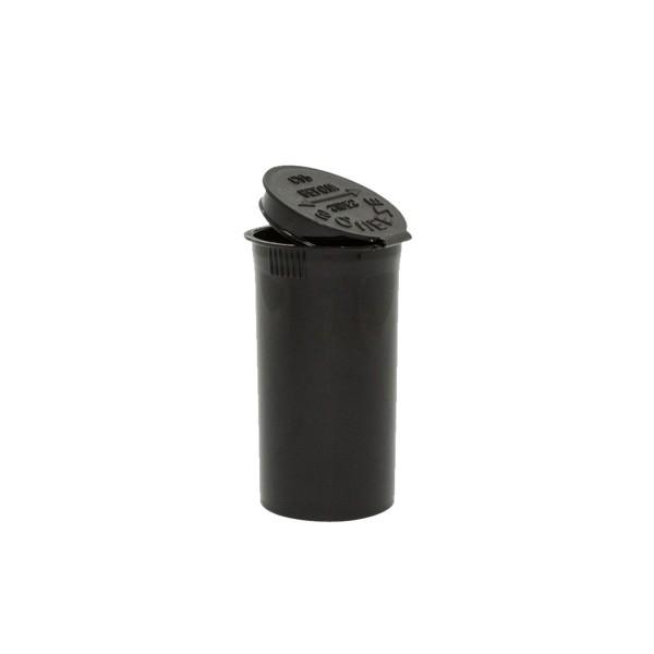 19 Dram Pop Top Certified Child Resistant Flower Jars Black