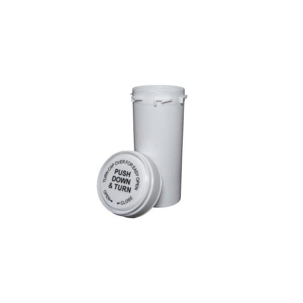30 Dram Reversible Cap Certified Child Resistant Flower Jars White