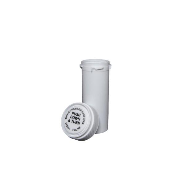 8 Dram Reversible Cap Certified Child Resistant Flower Jars White