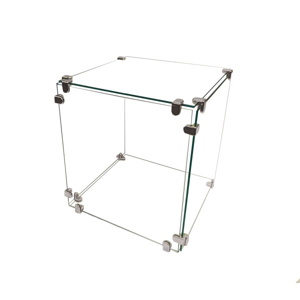 "Glass Cube Display 12"" x 12""  1"