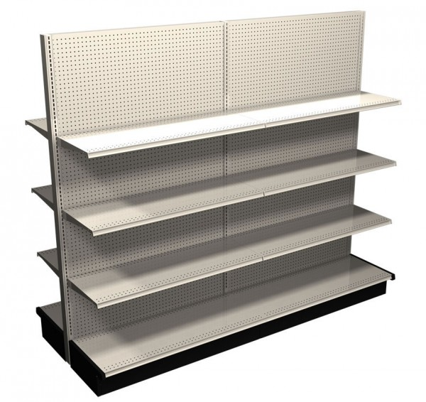 """Gondola Complete Freestanding 8' Section with 6 Shelves. 60"""" Tall"""