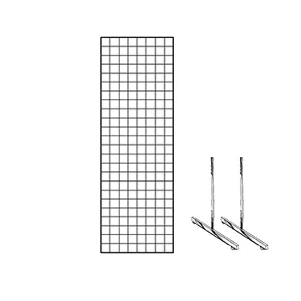 Gridwall Complete Free-Standing Floor Fixture. 2' x 6'   2