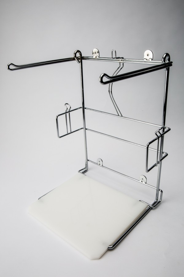 T-Shirt Bag Holder Chrome/White