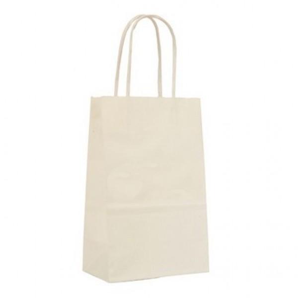 """Shopping Bags 8"""" W  x  4 3/4"""" D  x  10 1/2"""" H White"""