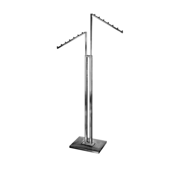 Clothing Rack 2 Way C Slanted Square Arms