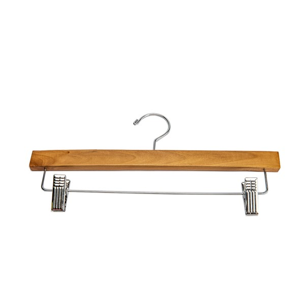 "Skirt Hanger 14"" Natural Wood Pants"