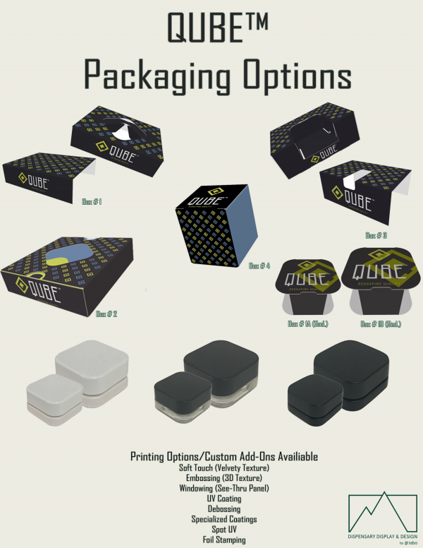 9mL QUBE™ Black Opaque Premium Glass Concentrate Jar 2  Flyer