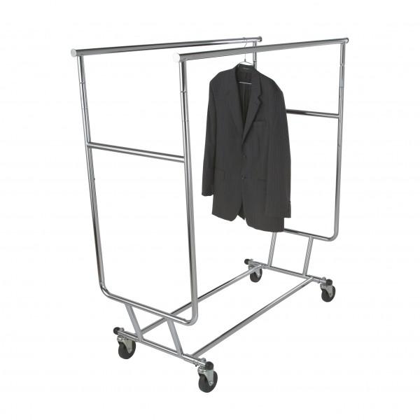 Salesman Rack Collapsible Double Bar Chrome 5