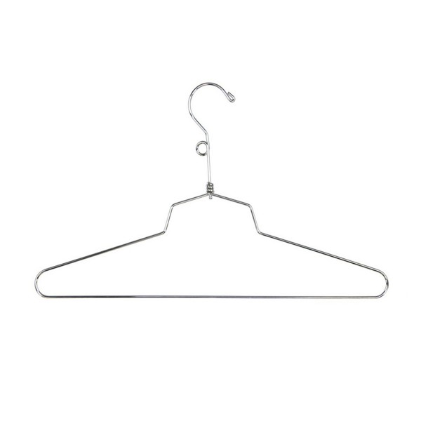 "Dress Hanger 12"" Chrome Metal"