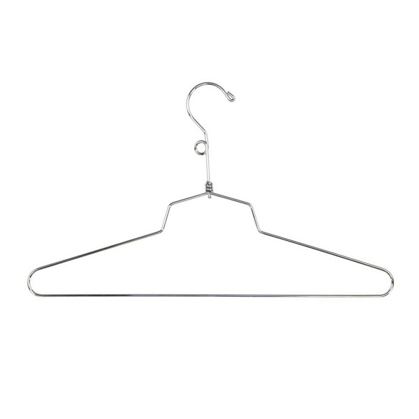 "Dress Hanger 14"" Chrome Metal"