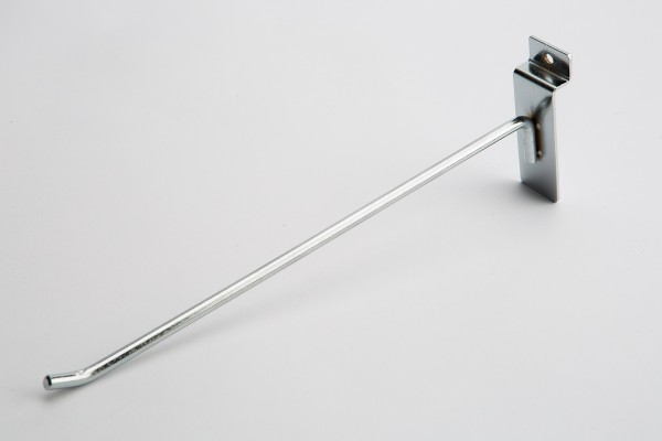 Slat Hook Chrome 10""