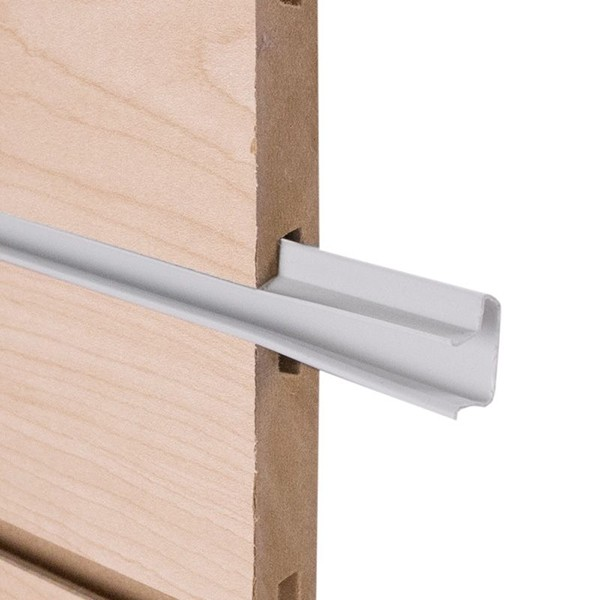 White Snap-In Slatwall Inserts