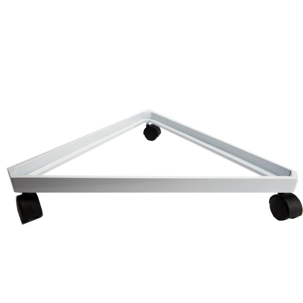 Gridwall Complete Free-Standing Triangle Floor Fixture with Casters. White 2' x 6 ' 4
